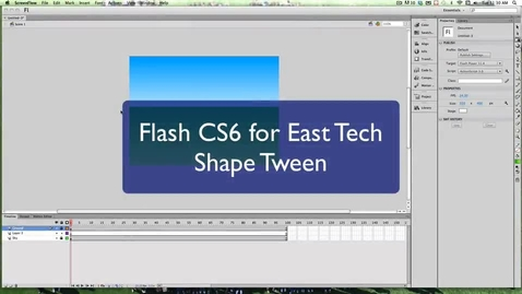 Thumbnail for entry Creating a Shape Tween in Flash CS6