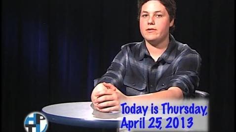 Thumbnail for entry Thursday, April 25, 2013