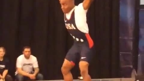Thumbnail for entry Jerome Smith, an 8th Grader from AESM in SLPS, is a ranked weightfilter