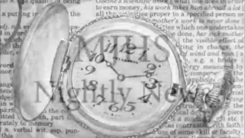 Thumbnail for entry MJHS Nightly News covering 1930s
