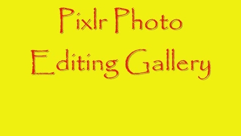 Thumbnail for entry Photo Editing Gallery