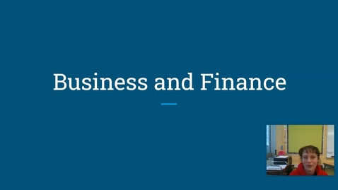 Thumbnail for entry Business and Finance at Norup