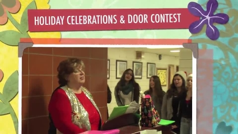 Thumbnail for entry Holiday Festivities & door decorating contest