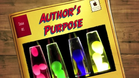Thumbnail for entry Author's Purpose