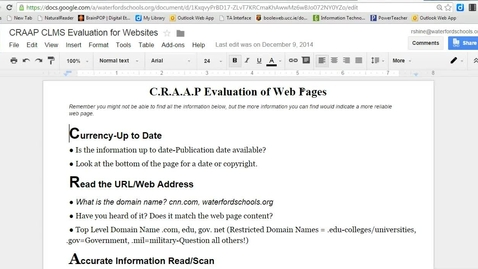 Thumbnail for entry CRAAP - Finding the Author of a web page