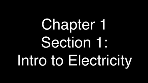 Thumbnail for entry Intro to Electricity