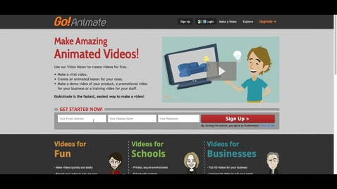 Thumbnail for entry How-To: GoAnimate Quick Video Feature