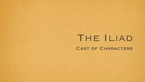 Thumbnail for entry Iliad Characters