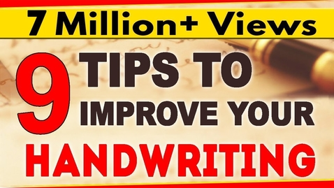Thumbnail for entry How To Improve Handwriting |  9 Tips for Nice Handwriting  | LetsTute