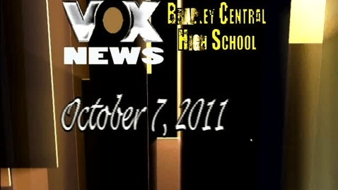 Thumbnail for entry BCHS VOX news broadcast Friday,October 7th 2011