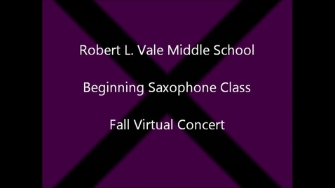 Thumbnail for entry 2012-2013 Beg. Saxophone Fall Concert