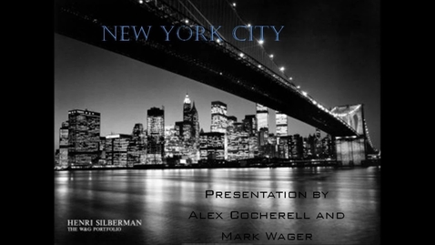 Thumbnail for entry A New York Perspective