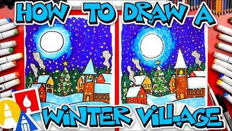 Thumbnail for entry How To Draw A Winter Village