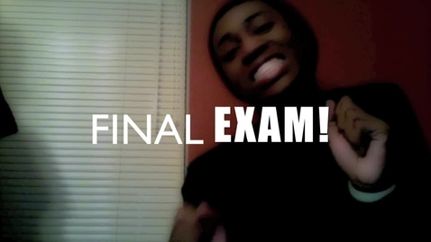 Thumbnail for entry Adolescence's and Final Exams