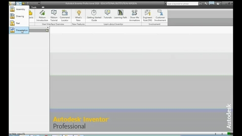 Thumbnail for entry Autodesk Inventor 2012 - Developing a Presentation