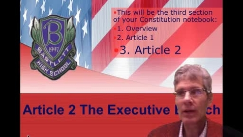Thumbnail for entry Article 2 of the US Constitution