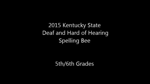 Thumbnail for entry 5th and 6th Grade State Rotation 1