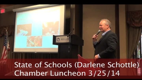 Thumbnail for entry State of Schools presentation by Darlene Schottle