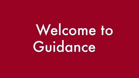Thumbnail for entry Welcome to Guidance