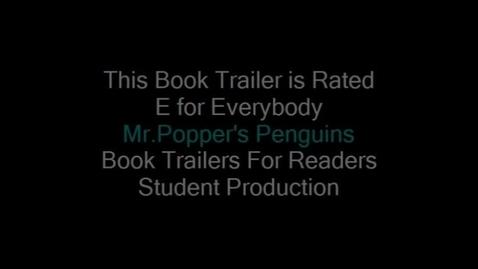 Thumbnail for entry Mr. Popper's Penguins Book Trailer