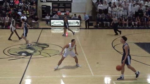 Thumbnail for entry EHHS Boys Basketball vs East Catholic 12/23/19 1 of 2
