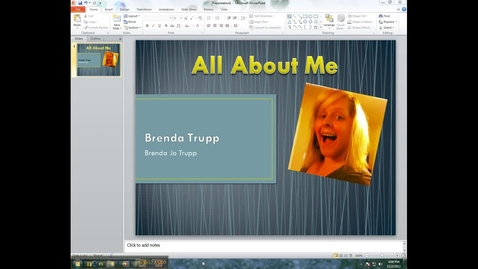 Thumbnail for entry PowerPoint Tutorial 2