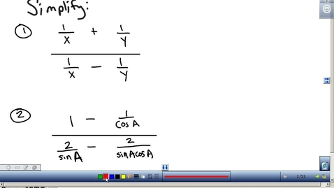 Thumbnail for entry Trigonometric Identities