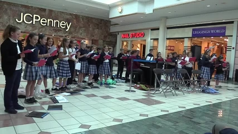 Thumbnail for entry St. Louis School Glee Club at Eastview Mall - Feliz Navidad 12-6-17