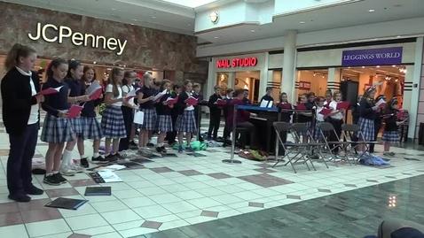 Thumbnail for entry St. Louis School Glee Club at Eastview Mall - Feliz Navidad 12-6-17