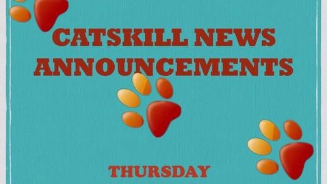 Thumbnail for entry Catskill News Announcements 9.25.14
