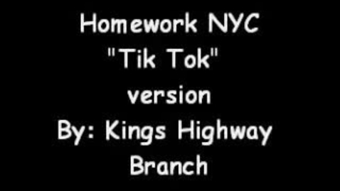 """Thumbnail for entry HomeworkNYC """"Tik Tok"""" Version by Kings Highway Branch"""