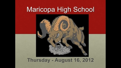Thumbnail for entry Daily Announcements 8/16/2012