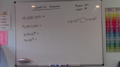 Thumbnail for entry Saxon 8/7 - Lesson 51 - Scientific Notation