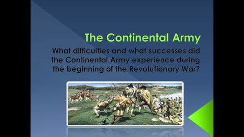 Thumbnail for entry The Continental Army Radio Show.webm
