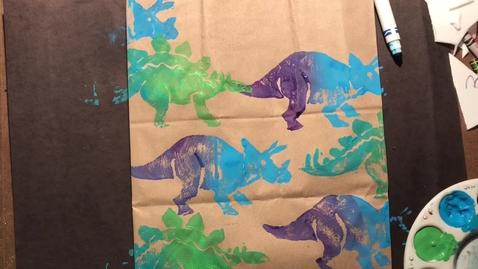 Thumbnail for entry Daniel Boone Art - Styrofoam Print