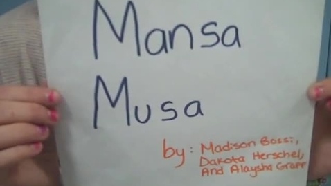 Thumbnail for entry Mansa Musa: Mali King of Gold