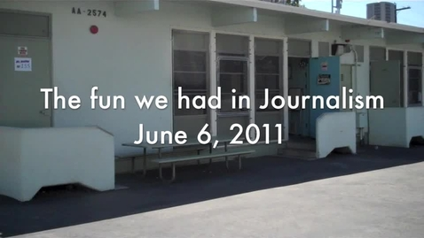 Thumbnail for entry The fun we had in journalism