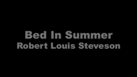 Thumbnail for entry Bed In Summer
