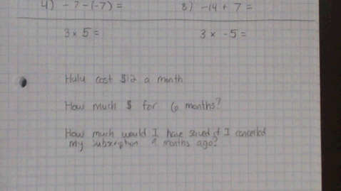Thumbnail for entry Multiplying/ Dividing Integers- In Case you Missed It!