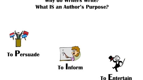 Thumbnail for entry Author's Purpose: An Overview