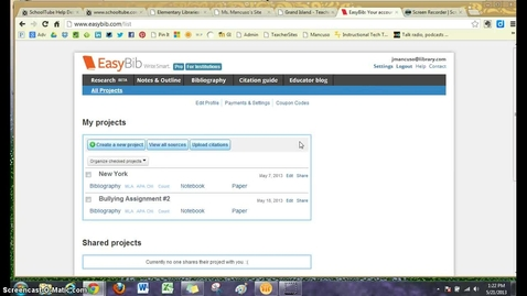 Thumbnail for entry Citations in EasyBib for Textbook