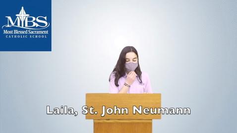 Thumbnail for entry St. John Neumann_Laila