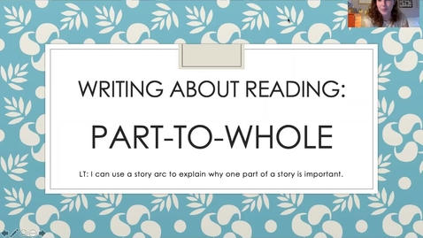 Thumbnail for entry Writing Lesson - Part To Whole