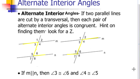 Thumbnail for entry Alternate Interior Angles