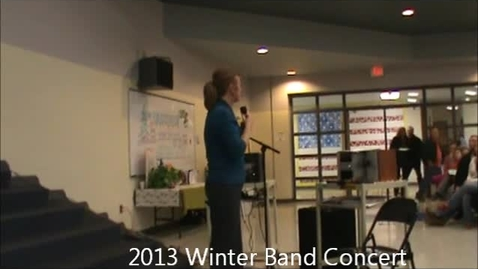Thumbnail for entry Winter Band Concert 2013