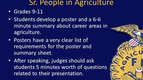 Thumbnail for entry NY FFA Sr. People in Agriculture Contest - Overview