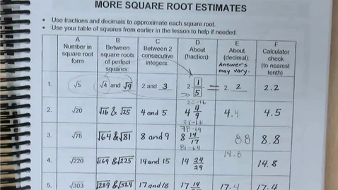 Thumbnail for entry SP11 - Answers to p. 5 and and WU on p. 6 and Lesson 11.2a on pp. 7-11