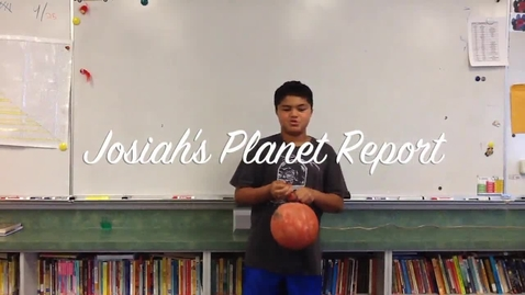 Thumbnail for entry Josiah's Planet Report