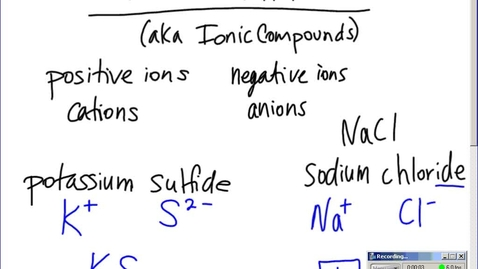 Thumbnail for entry Stephens Chemistry: Polyatomic ions and naming Ionic Compounds