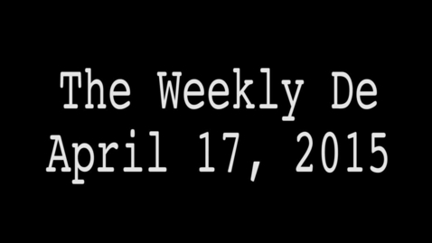 Thumbnail for entry 2015.04.17 - Weekly De
